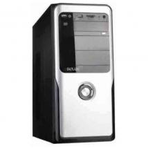 Miditower Delux DLC-MT457 480Watt zilver/zwart met cardreader