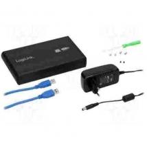"3.5"" LogiLink Enclosure USB3  / SATA / Zwart"