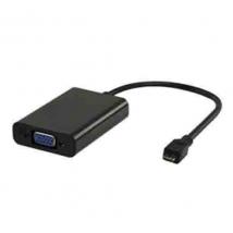MHL adapterkabel MHL - VGA + 3.5 mm 0.20 m zwart