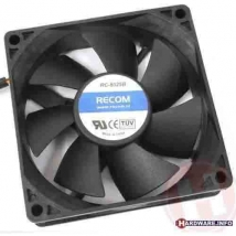Fan Recom RC-8025B Black 80x80