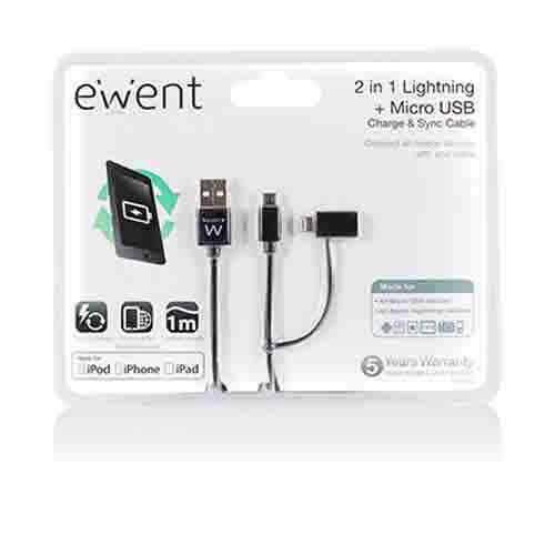 EW9909 2-in-1 Lightning + Micro USB