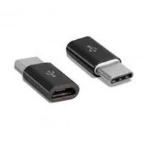 Adapter Micro USB naar USB C Wit/zwart