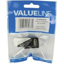 USB 2.0 A-A Haakse adapter 90 graden