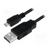 Kabel USB Micro 2.0 A--> Micro B Logilink 1M